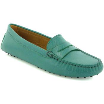 Chaussures Femme Derbies Atlanta Mocassin Mocassins Michèle en petit cuir grainé Vert