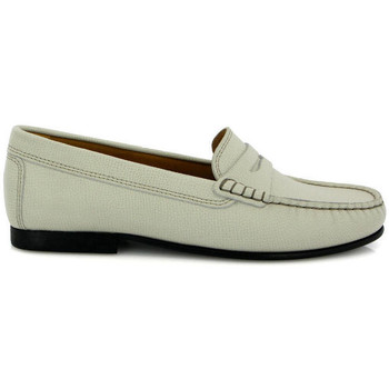 Chaussures Femme Derbies Atlanta Mocassin Mocassins Yoki en petit cuir grainé Beige