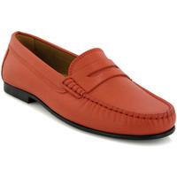Chaussures Femme Derbies Atlanta Mocassin Mocassins Yoki en petit cuir grainé Orange
