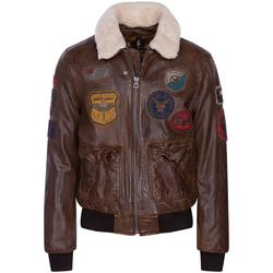 Vêtements Homme Blousons Daytona Blouson cuir Mythic Marron