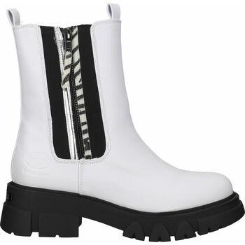 Chaussures Femme Boots Dockers Bottines Weiß