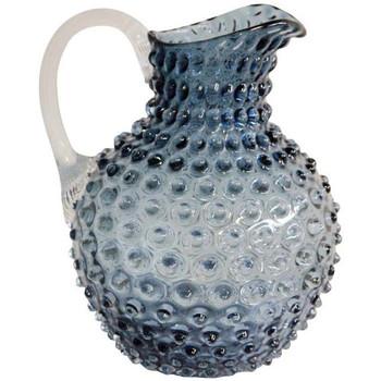 Maison & Déco Vases, caches pots d'intérieur Chehoma Carafe cristal ardoise pointe de diamant 18x25cm Bleu