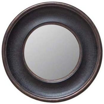 Maison & Déco Miroirs Chehoma Miroir sorcière convexe rond 38cm Noir patiné bronze