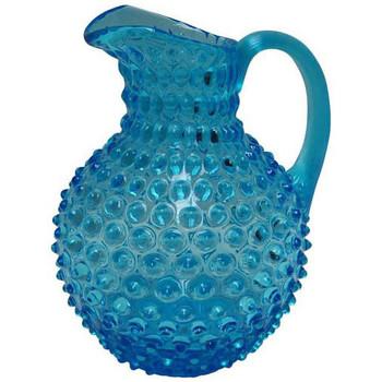 Maison & Déco Vases, caches pots d'intérieur Chehoma Carafe cristal turquoise pointe de diamant 18x25cm Turquoise