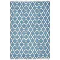Maison & Déco Tapis Unamourdetapis Tapis kilim Afrira Bleu 200x290 cm Bleu