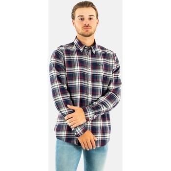 Vêtements Homme Chemises manches longues Barbour crossfell tailored shirt ny91 navy bleu