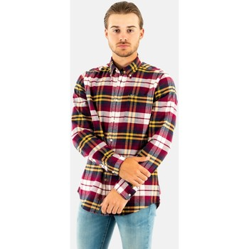 Vêtements Homme Chemises manches longues Barbour betsom tailored shirt re51 red rouge
