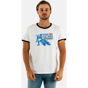 Vêtements Homme T-shirts manches courtes Daytona flat track white blanc