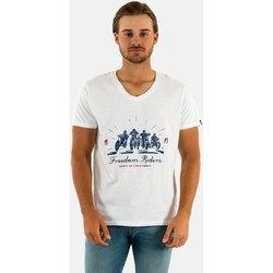 Vêtements Homme T-shirts manches courtes Daytona freedom riders bright white blanc