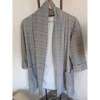 Vêtements Femme Vestes / Blazers Esperance VESTE A CARREAUX Gris