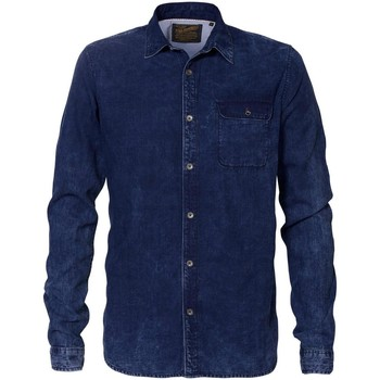 Vêtements Homme Chemises manches longues Petrol Industries SIL429 5079 DARK INDIGO Bleu marine