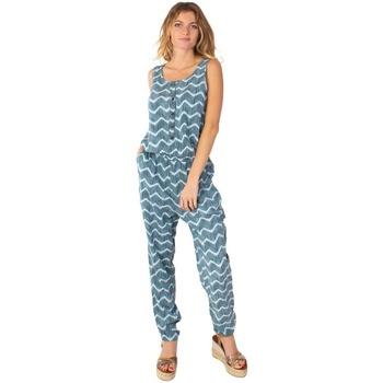 Vêtements Femme Combinaisons / Salopettes Coton Du Monde -Pantalon-Mallaury Vert