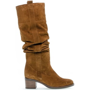 Chaussures Femme Bottes ville Gabor Bottes suede talon  décroché Marron