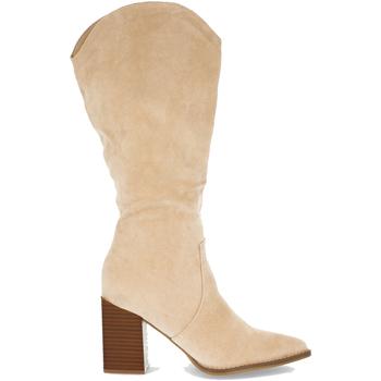 Chaussures Femme Bottes ville Buonarotti 2A-1400 Beige