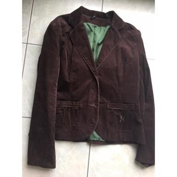 Vêtements Femme Vestes / Blazers Naf Naf blazer velours Marron