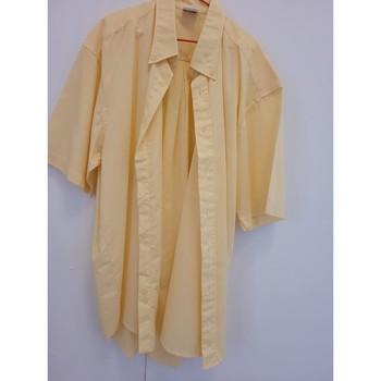 Vêtements Homme Chemises manches courtes Sans marque Chemise manches courtes taille 39-40 Jaune