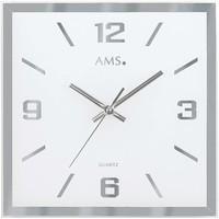 Vêtements de nuit Horloges Ams 9324, Quartz, Black, Analogue, Modern Noir