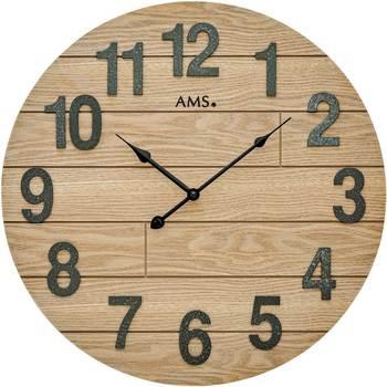 Vêtements de nuit Horloges Ams 9617, Quartz, Brown, Analogue, Classic Marron