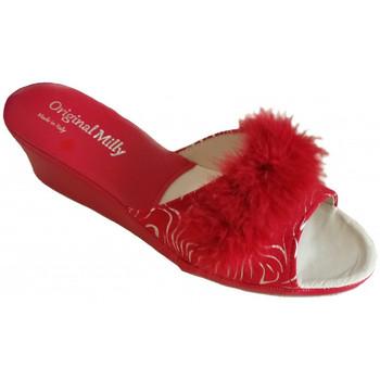 Chaussures Femme Mules Original Milly CORDONNIER DE CHAMBRE MILLY - 102 ZÈBRE ROUGE Multicolor