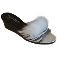 Chaussures Femme Mules Original Milly PANTOUFLE DE CHAMBRE MILLY - 102 ZÉBRÉ Multicolor