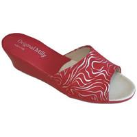 Chaussures Femme Mules Original Milly CORDONNIER DE CHAMBRE MILLY - 103 ZÈBRE ROUGE Multicolor