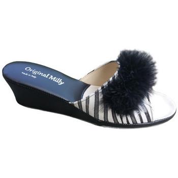 Chaussures Femme Mules Original Milly CORDONNIER DE CHAMBRE MILLY - 102 ZÈBRE NOIR Multicolor