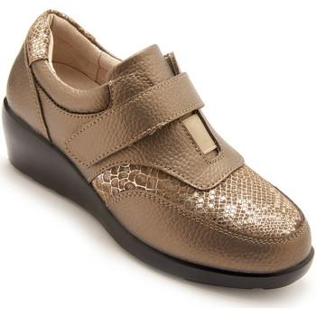 Chaussures Femme Derbies Pediconfort Derbies cuir à élastique et scratch vison
