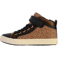 Chaussures Femme Baskets montantes Geox Basket Montante Cuir /Fille Kalispera J744GI Whisky