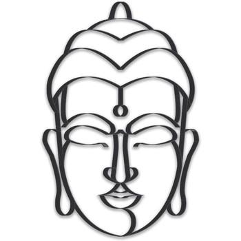 Maison & Déco Tableaux, toiles Zen Et Ethnique Bouddha décoratif à fixer au mur Noir