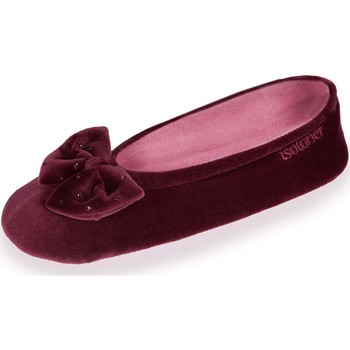 Chaussures Femme Chaussons Isotoner Chaussons ballerines Bordeaux