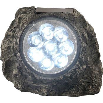 Maison & Déco Eclairages extérieurs Globo Lampe solaire Rocher - H. 11 cm Gris