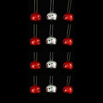 Maison & Déco Décorations de noël Atmosphera Lot de 12 grelots brillants Rouge