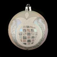 Maison & Déco Décorations de noël Atmosphera Boule de noël décorée - Perles Argent