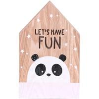 Maison & Déco Tableaux, toiles Urban Living Cadre déco lumineux effet bois enfant Tommy - Panda Marron