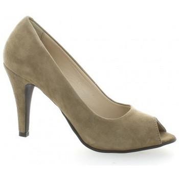Chaussures Femme Escarpins Vidi Studio Nu pieds cuir velours Taupe