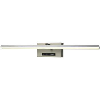 Maison & Déco Appliques Esto Applique Dimmer - 50 x 7 x 8,5 cm - Acier brossé et chromé Argent