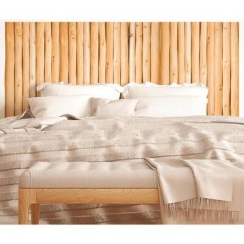 Maison & Déco Stickers Sud Trading Sticker tête de lit Rondins en bois Marron