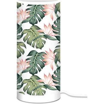Maison & Déco Lampes à poser Sud Trading LAMPE À POSER DESIGN FEUILLAGE Blanc