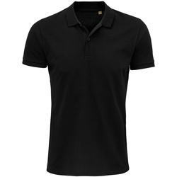 Vêtements Homme Polos manches courtes Sols 03566 Noir