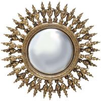 Maison & Déco Miroirs Chehoma Miroir soleil convexe 29cm Doré