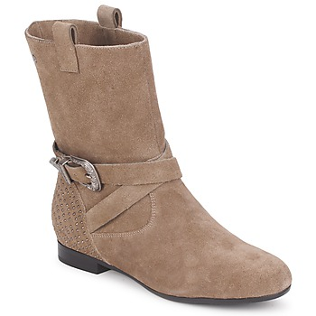 Bottines / Boots Couleur Pourpre TAMA Taupe 350x350