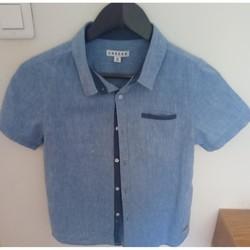 Vêtements Garçon Chemises manches courtes Creeks Chemise bleu ciel Bleu