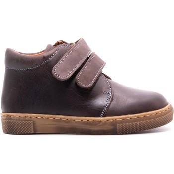 Chaussures Enfant Boots Boni & Sidonie Bottines en cuir à scratch - STANILSAS Marron