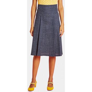 Vêtements Femme Jupes Haut Large Oasis Jupe Plis Bleu KANJI BLEU