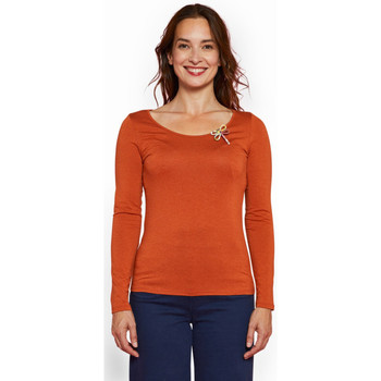 Vêtements Femme T-shirts manches longues Haut Large Oasis T-shirt Tigre CARAMEL