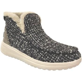 Chaussures Femme Bottes de neige Dude Denny Noir/Ecru