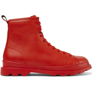 Chaussures Homme Bottes ville Camper Bottines cuir Brutus rouge