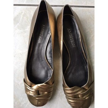 Chaussures Femme Ballerines / babies Ambition ballerines dorées Doré