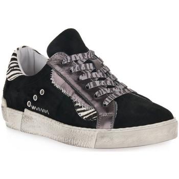 Chaussures Femme Baskets basses At Go GO 4102 VELOUR NERO Nero