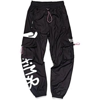 Vêtements Femme Pantalons de survêtement Disclaimer Pantalon de survtement graphique latral noir Noir